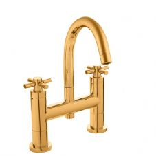Hudson Reed Tec Crosshead Deck Mounted Bath Filler in DoratO 24ct Gold